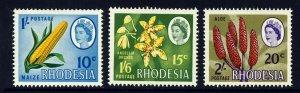 RHODESIA Queen Elizabeth II 1967-68 Dual Currency Part Set SG 409 to SG 411 MINT