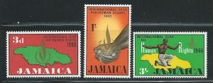 Jamaica MNH 271-3 International Year Of Human Rights 1968