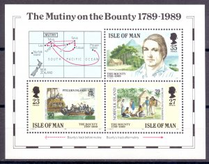 Isle Of Man. 1989. bl11. Ship. MNH.
