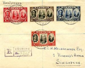 Sarawak 8c, 15c, 50c, and $1 Sir James Brooke, Sir Charles V. Brooke and Sir ...
