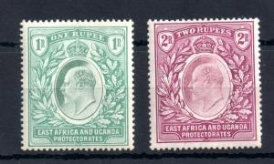 British East Africa 1907 1R & 2R mint LHM SG26 SG27 WS12943