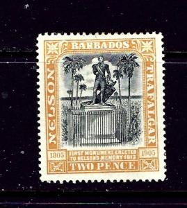 Barbados 105 MH 1906 issue