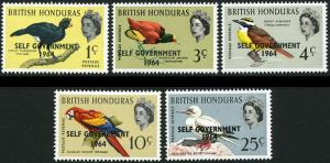 British Honduras 182-6 MNH - Birds