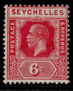 SEYCHELLES GV SG104, 6c carmine, M MINT.
