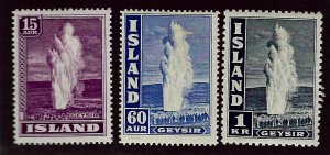 Iceland SCV#203, 208A-B  Mint F-VF.....Worth a Close Look!