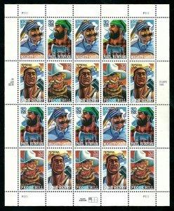 PCBstamps  US #3083/3086 Sheet $6.40(20x32c)Folk Heroes, MNH, (4)