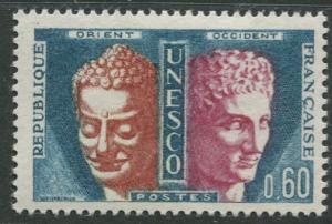 France Unesco - Scott 205 - Unesco Issue -1961-65 - MLH - Single 60c Stamp