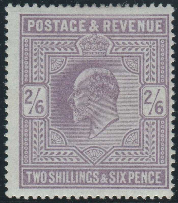 Sg 260 2/6 Lilac.  A superb Post Office fresh unmounted mint example