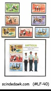 BARBUDA - 1977 CARIBBEAN BOY SCOUT JAMBOREE - SET OF 7-STAMPS & 1-M/S MNH