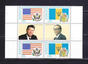 Barbados 584a Block MNH Flags (B)