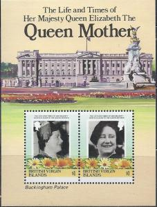 British Virgin Islands #517 Queen Mother S/S (MNH) CV$2.25