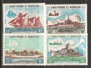 St Pierre & Miquelon SC 408-11 MNH