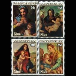 NIUE 1980 - Scott# 301-4 Christmas-Sarto Set of 4 NH