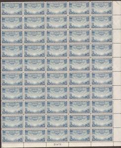 US Stamp 1935 25c Transpacific Airmail 50 Stamp Sheet NH #C20