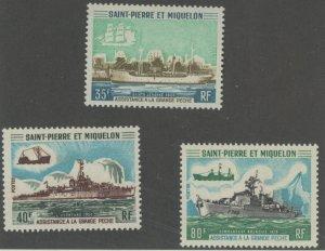 St. Pierre & Miquelon 409-11 * mint LH (2107 376)