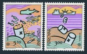 Faroe 143-144,MNH.Michel 134-135. EUROPE CEPT-1986,Sea Pollution.