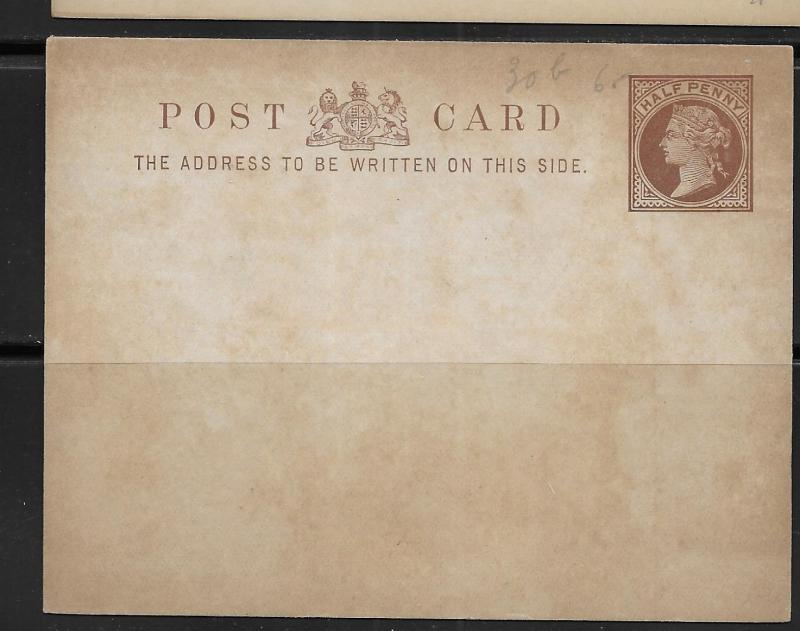 Great Britain Postal Stationery Postcard H&G 16a Mint