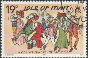 Isle Of Man, #414 Used From 1990