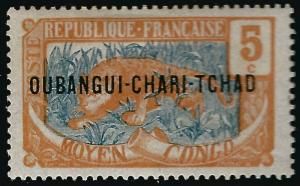 Ubangi-Shari Sc #5 F-VF MNH French Colonies are Hot!