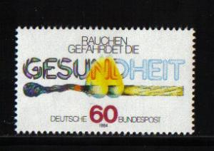 Germany 1984 MNH Anti-smoking campaign complete
