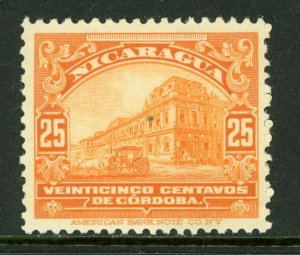 Nicaragua 1914 Cathedral 25¢ Orange Rotary Printing Mint M463