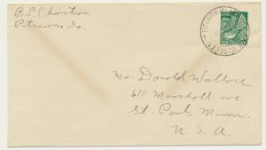 PITCAIRN IS 1936? COVER, RE CHRISTIAN TO USA, NZ ½d RATED (SEE BELOW)