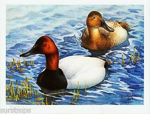 CANADA # 2 DUCK PRINT NEW IN FOLIO JACKET INCL. STAMP