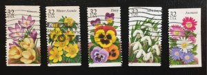 US #3025-3029 Used F/VF - Flowers (Complete Set)