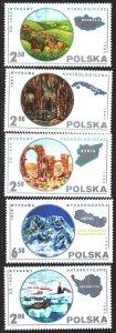 Poland. 1980. 2686-90 of the series. Tourism, horses, Antarctica. MNH.