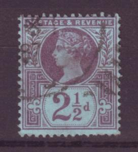 J13999 JLstamps 1887-92 great britain used #114 queen $3.50 scv