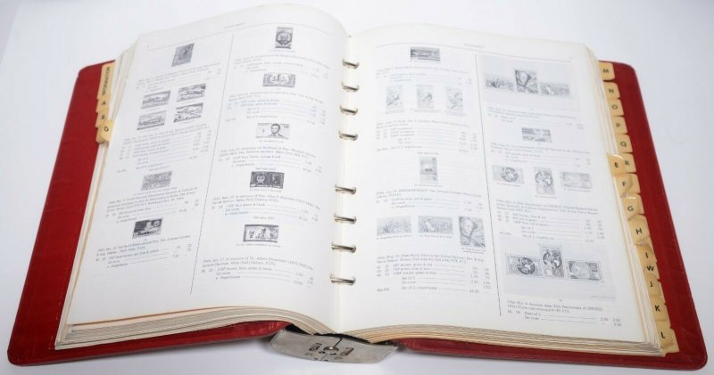 1972 A to M Sanabria World Airmail Stamps Postage Catalogue Philatelic Catalog