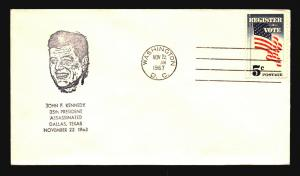 US - 4 Different JFK Cacheted Related Covers (IV) - Z15453