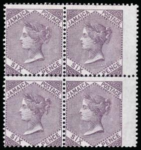 Jamaica Scott 5b Gibbons 5a Block of Stamps