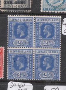 Leeward Islands SG 50a Block of Four MOG (4dhb)