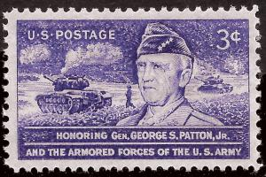 Scott 1026   3¢ George S. Patton Single, MNH