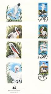 [53612] Romania 1984 Birds Vögel Oiseaux Ucelli WWF FDC 4 covers