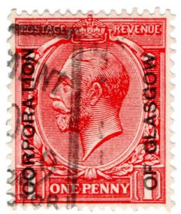 (I.B) George V Commercial Overprint : Corporation of Glasgow