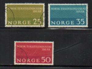 Norway Sc  443-5 1963 Textile Industry stamp set used
