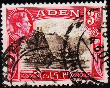 Aden.1939 3a  S.G.22 Fine Used