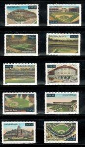 3510-19 Baseball Fields Singles Set Of 10 Mint/nh Free Shipping (A-279)