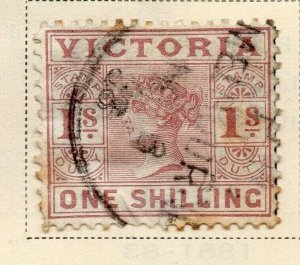 Victoria 1886-87 Early Issue Fine Used 1S. 326781