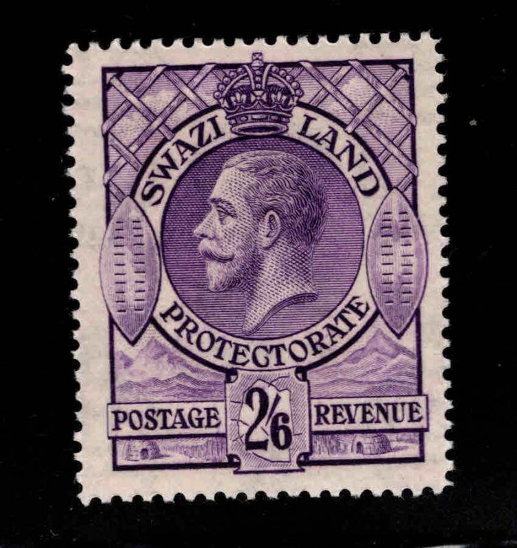 Swaziland  Scott 17 MH* KGV stamp Nice color and centering SG 18