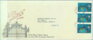 84292 - HAITI  - POSTAL HISTORY - AIRMAIL COVER  to ITALY - Telecommunications