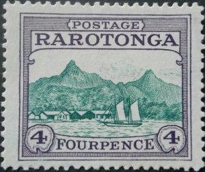 Cook Islands 1927 Four Pence SG 84 mint