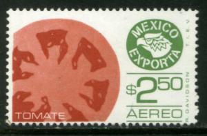 MEXICO Exporta C599, $2.50P Tomatoes Wmkd Fosfo Paper 2. MINT, NH. VF.