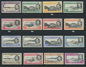 ASCENSION 1938 SET, VF MLH/NH SG#38-47b CAT£250 $325 (SEE BELOW)