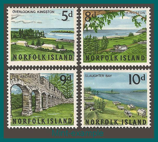 Norfolk Island 1964 Views, MNH  #49,51-53,SG51-SG54