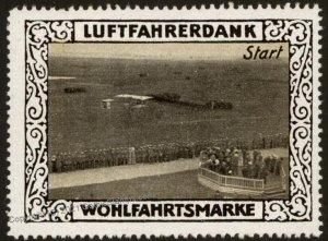 Germany WWI Air Force Memorial Luftfahrerdank Flight MNH  Cinderella Sta G102806
