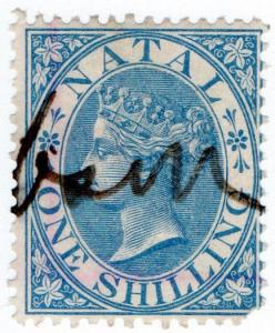 (I.B) Natal Revenue : Duty Stamp 1/- (1870)