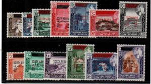 South Arabia Michel 42-54 Mint NH (Catalog Value 46 Euros) $52